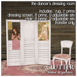 Clutter - The Dancer's Dressing Room ad