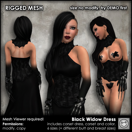 Happy Undead - Black Widow Dress (The Costume Ball)