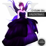 V.e. - Fairy Gown & Wings Starry - (The Costume Ball)